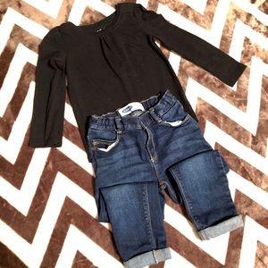 Long-sleeve & Jean Set